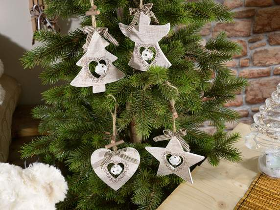 Wooden Christmas decorations to hanging with bell