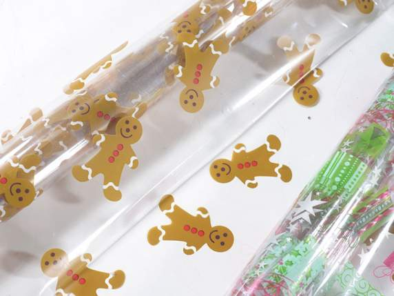 Package of 80 transparent papers with Christmas print