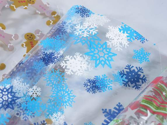 Confection of nylon sachets with Christmas print