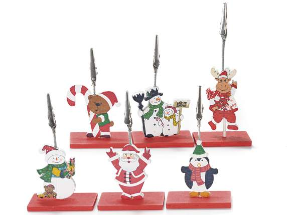 Placeholder with wooden Christmas subjects