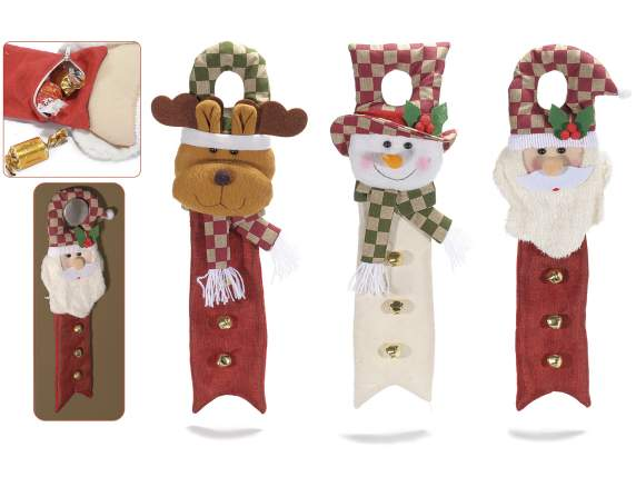 Hanging Christmas sweet container in cloth