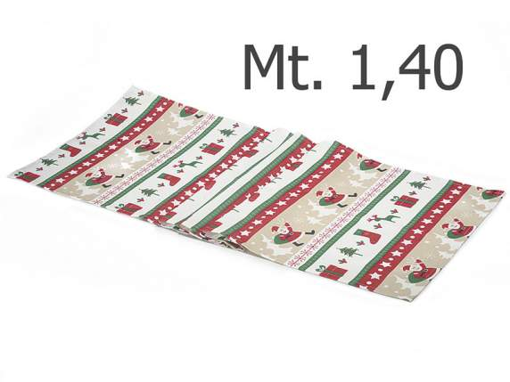 Table runner with christmas print