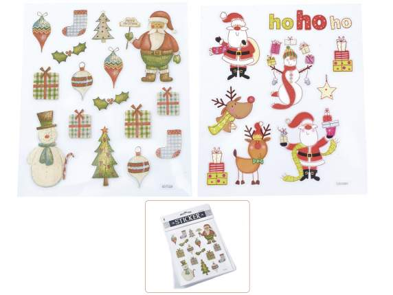 Packages of 2 papers of Christmas transparent stickers