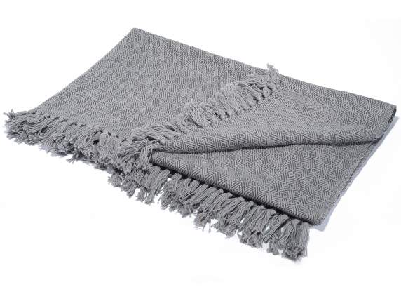 Cotton jacquard blankets weaving lozenges