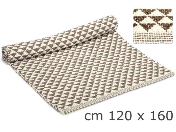 Cotton carpet with triangle design
