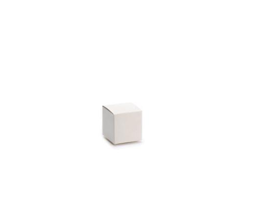 Ivory Cube Box in Papier