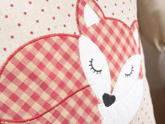 Pillowcase in cloth w-decorative fox