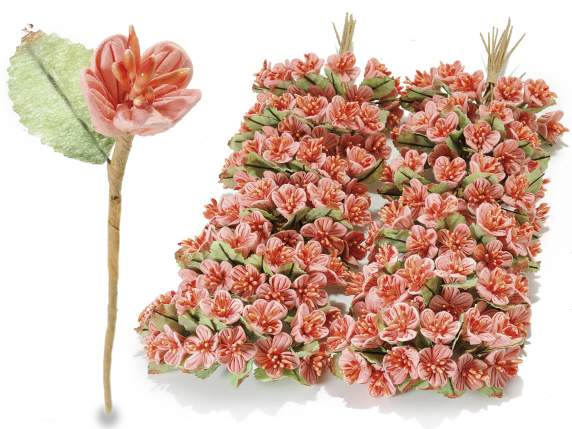 Decoration artificial peach paper anemone flower