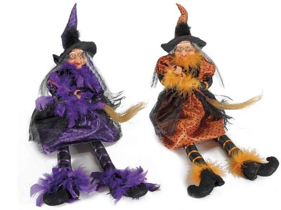 Leaning witch w-resin long legs