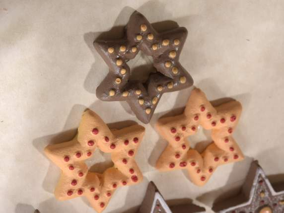 Box of resin Biscuits decorations with double sided tape