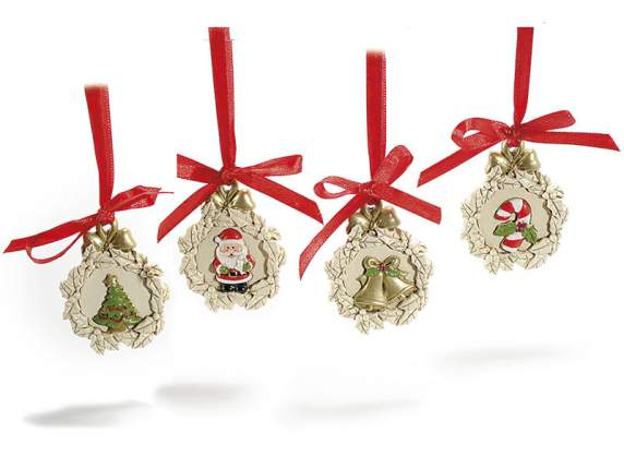 Hanging resin decorations w-Christmas figures