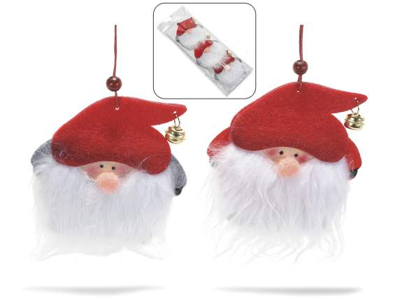 Conf.3 decorative Santa Claus in fabric to hang