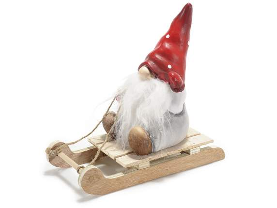 Ceramic Santa Claus with sled