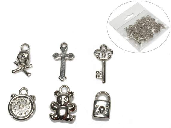 Package 36 decorative metal charm