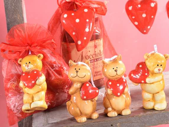 Decorazione cuori d 39 amore in ceramica lucida da - Decorazioni cuori ...