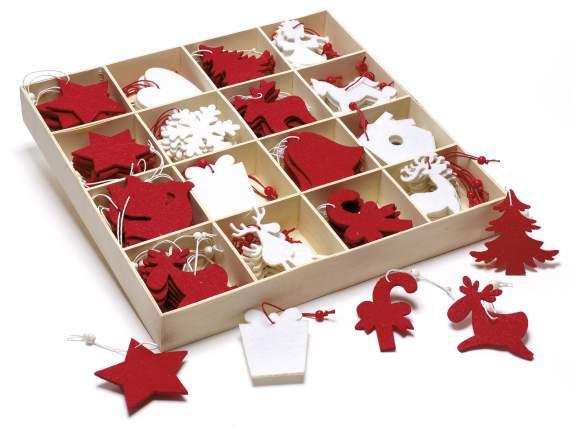 Decorazioni natalizie in feltro colorato da appendere in - Decorazioni natalizie in feltro ...