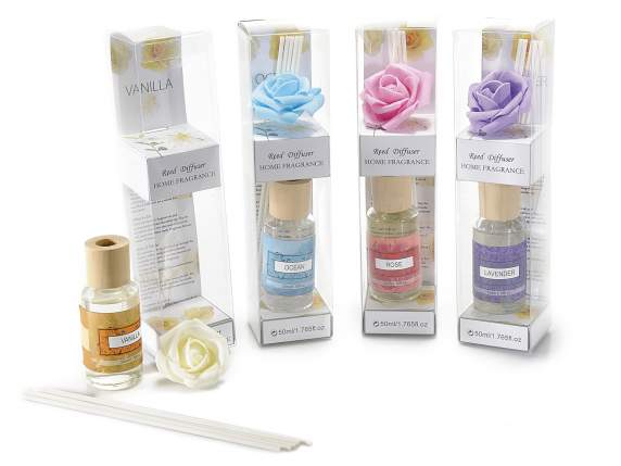 Reed diffuser 50 ml w-decorative rose