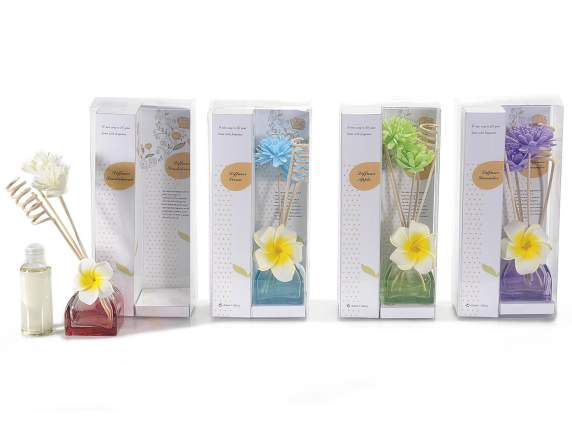 Reed diffuser 50 ml w-flowers decorations