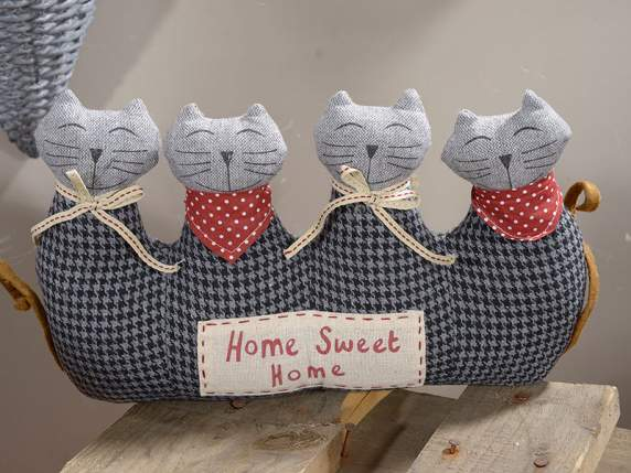 Stuffed cloth door stopper cat and dog shaped