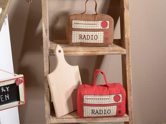 Vintage radio shaped door stoppers