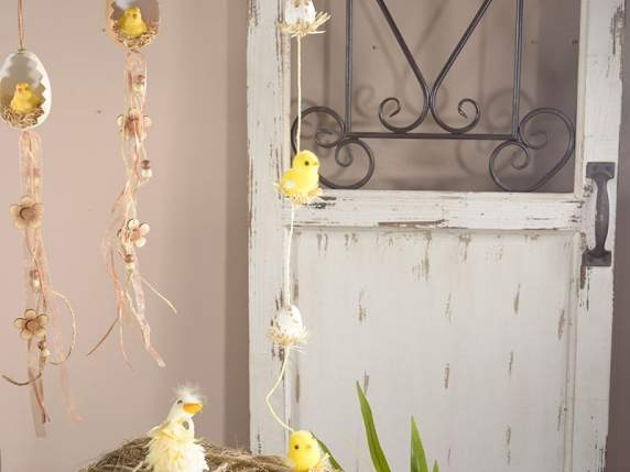 Decorative wire with eggs and chicks