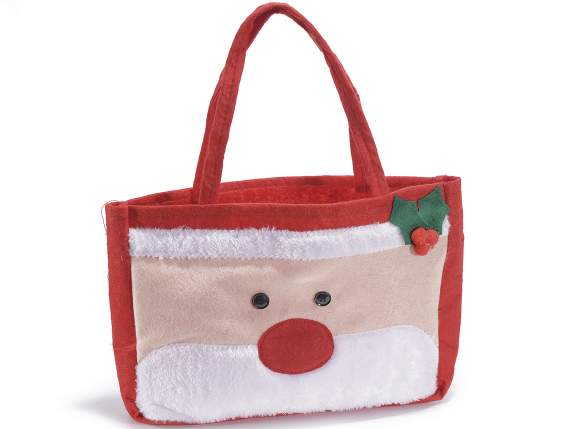 Santa felt bag w-handles and decorations