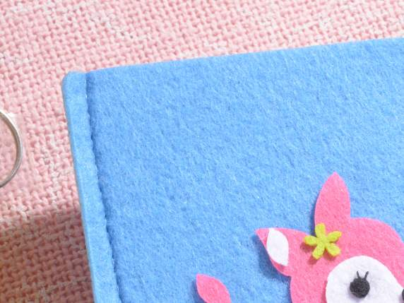 Felt mobile cover with decorations