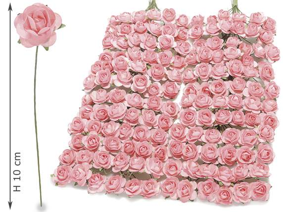 Artificial paper pink craft rose