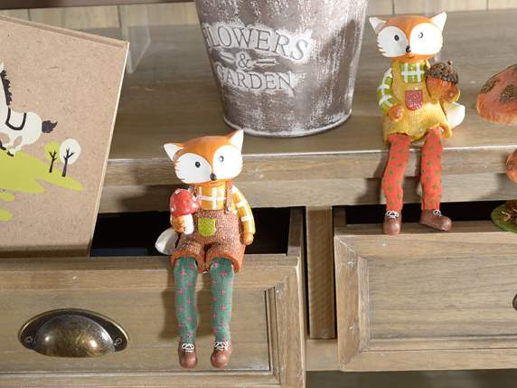 Resin fox w - lange Beine
