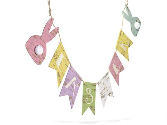 Wooden bunting w-Easter writing