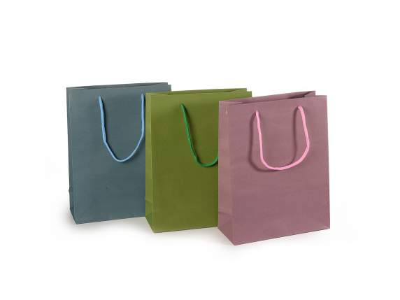 Paper gift bag crayon colours