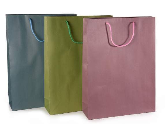 Maxi paper gift bag crayon colours