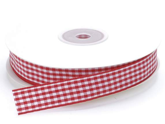 Checked ribbon red strawberry colour