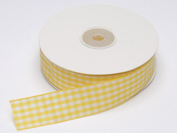 Checked ribbons yellow colours