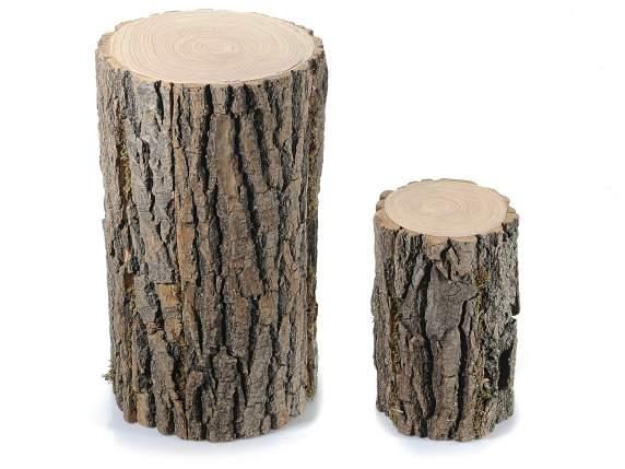 Set 2 tronchetti decorativi in legno effetto quercia 51 - Listelli decorativi in legno ...