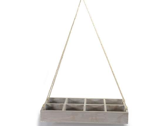 Hanging wooden tray 8 compartment