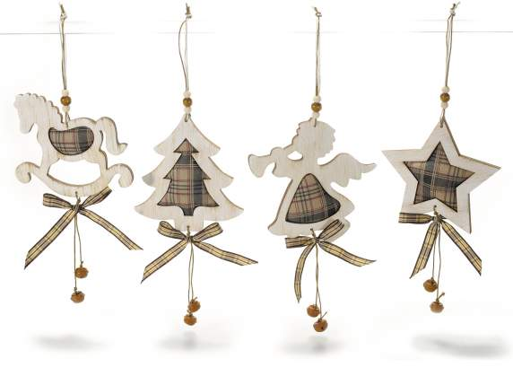Świąteczne dekoracje wiszące szmatki drewna