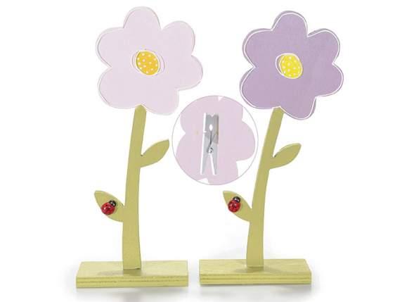 Drewno kwiat znaki<br>klips miejsce
