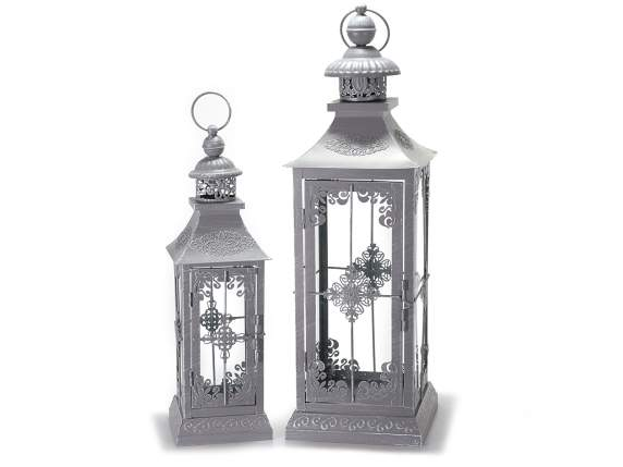 Lanterns metalllo gray