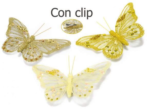 Dekoracyjny brokat<br>cekiny motyl