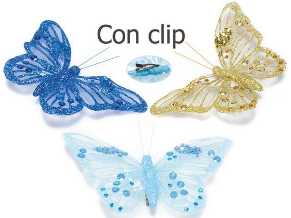 Dekorative<br> Schmetterling<br>Pailletten funkeln