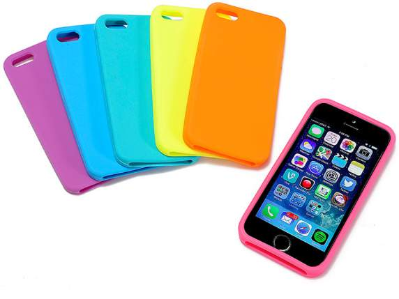 Case colored<br> silicone Iphone<br>5/5 s