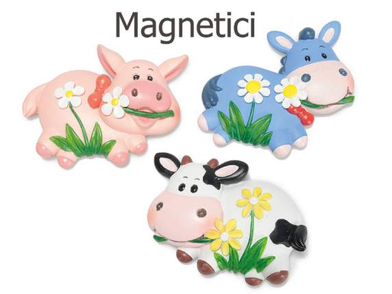 Magnet resin animals
