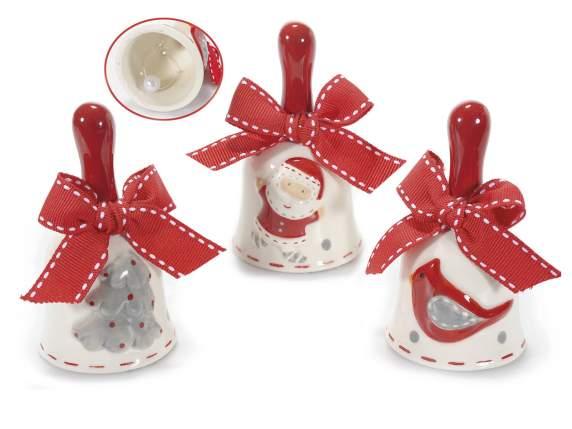 Kerstklok<br> gedecoreerde<br>keramische