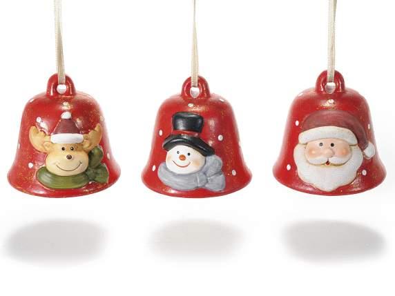 Céramique<br> décoration cloche<br>de Noël