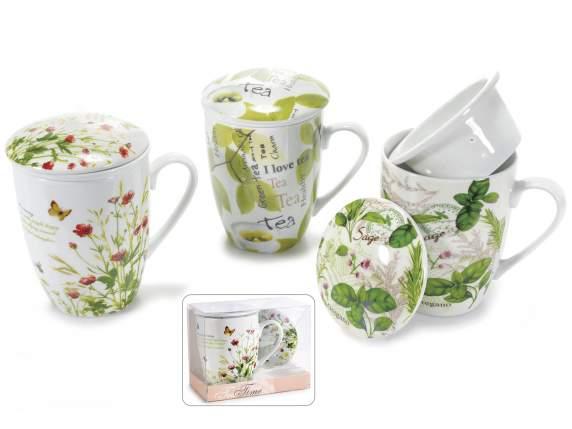 Porcelain cup tisaniera