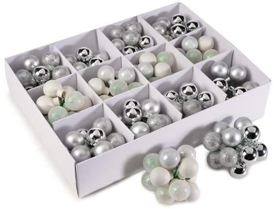 Decorative glass<br> balls silver wire<br>shapeable