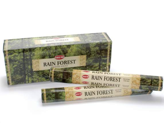 Incenso in astuccio esagonale da 20 stick Rain Forest