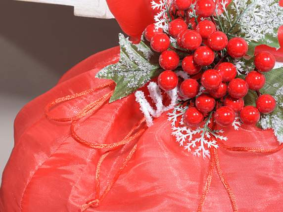 Indian silk big sachet with string red color