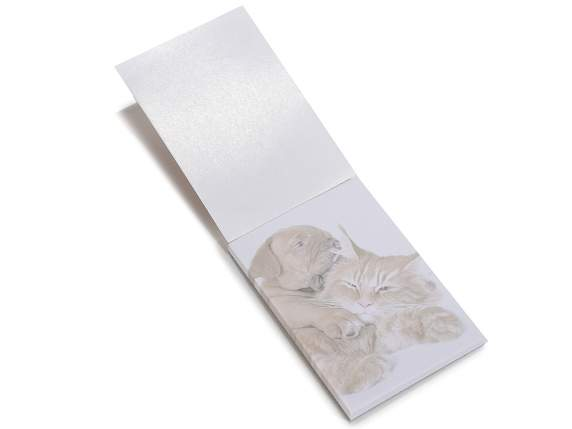 Mini bloc notes cane-gatto c-pagine stampate in espo da 108
